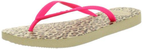 Havaianas Women's Slim Animals Fluo Flip Flop,,Sand Grey,35/36  BR/5-6 M US