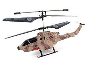 iPhone iPad Smartphone Controlled U809A Cobra Missile Launching 3.5 CH Micro RC Helicopter w/ Gyro RTF (Desert Camouflage Design)