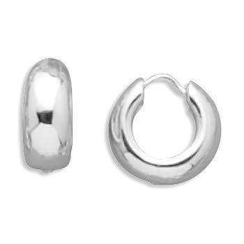 Sterling Silver Hinged Polished Earrings