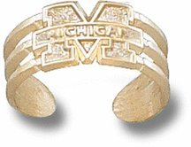 Michigan Wolverines Gold Plated Toe Ring