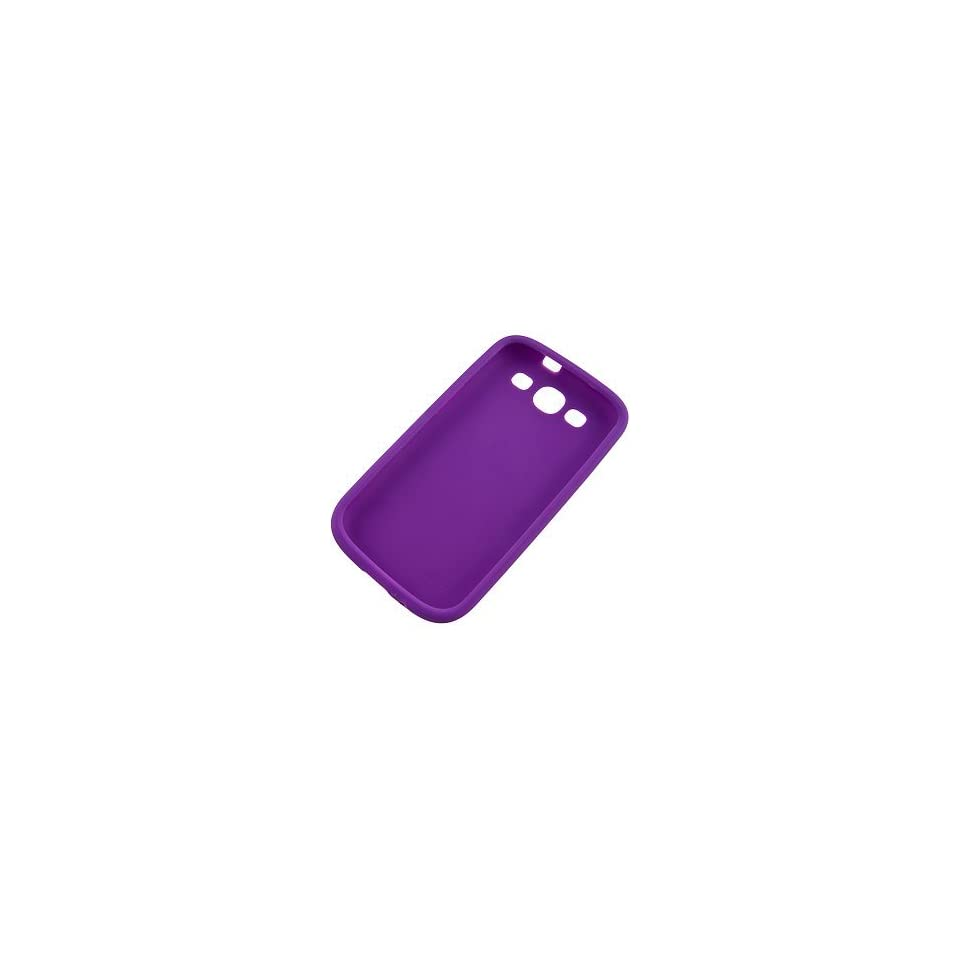 BC Silicone Sleeve Gel Cover Skin Case for AT&T, T Mobile, Sprint, Verizon Samsung Galaxy S III i9300 i747 Purple