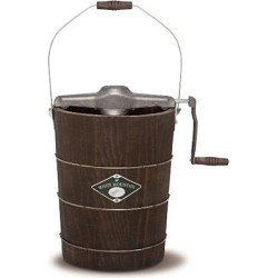 White Mountain NDWMIMH611 6-Quart Wooden-Bucket Manual Hand-Crank Ice-Cream Maker