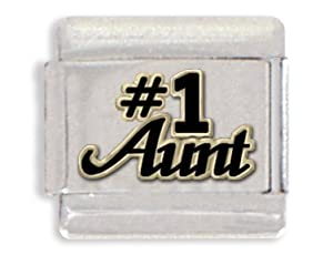 Number One Aunt Italian Charm Bracelet Link