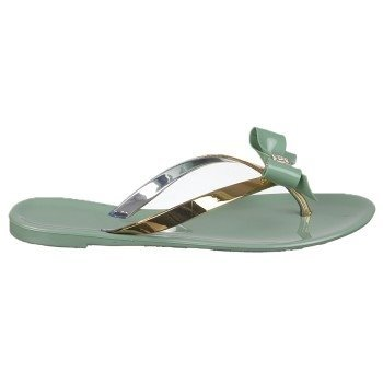 Nomad Women'S Pixie Jelly Sandal,Green/Gold,10 M Us front-795635