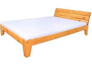 bett 140x200 kiefer massiv mit lattenrollrost k che haushalt. Black Bedroom Furniture Sets. Home Design Ideas