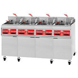 200 lb Four Battery Electric All-Purpose Fryer w/KleenScreen PLUS - Vulcan-Hart 4ER50CF-1