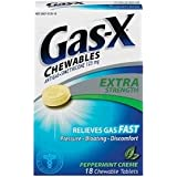 Gas-X Chewable Tablets-Peppermint Creme-18 ct. (Tamaño: 18)