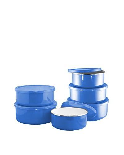 Reston Lloyd Azure 12-Piece Enameled Steel Covered Bowl Set