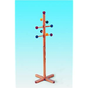 Children clothes stand made of wood for children 113 cm