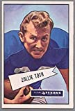 1952 Bowman Regular (Football) Card# 58 Zollie Toth of the Dallas Texans ExMt Condition