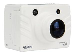 Rollei Bullet 4S Full-HD Camcorder (8 Megapixel, 3,5 cm (1,4 Zoll) TFT-Display, 175 Grad Weitwinkel-Objektiv, HDMI, USB) inkl. 4GB SD-Karte, Unterwassergehäuse, Fernbedienung weiß