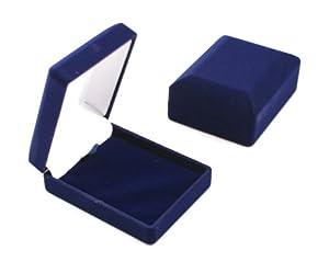 Luxury Blue Velvet Pendant/Drop Earring Box