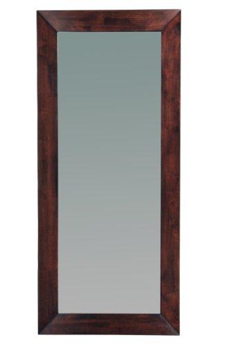 Miliboo miroir mural en bois 80 x 180 cm weng daffodil for Miroir 80x80