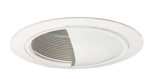 Juno Lighting 213W-Wh 5-Inch Downlight White Baffle With Wall Wash, White Trim