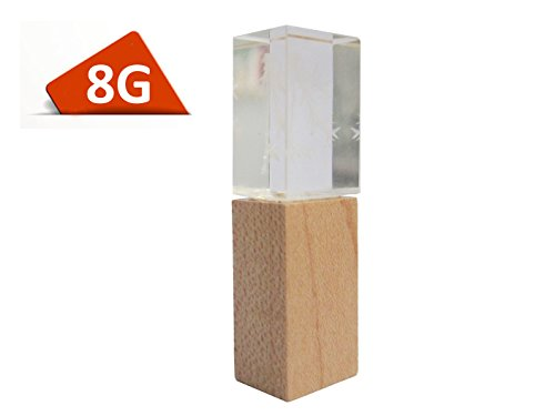 High Quality Wooden Crystal Gift Wood 8gb USB 2.0 Flash Drive