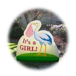 """Bebe Sounds """"It'S A Girl!"""" Stork Inflatable front-958677"""