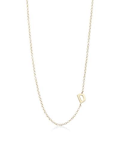 Argento Vivo Asymmetrical D Initial Necklace