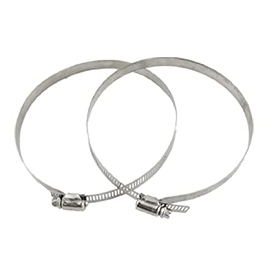 uxcell 2 Pcs Adjustable Band Worm Gear 130-152mm Hose Clamps from uxcell