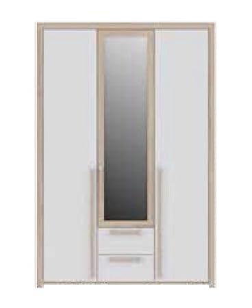 Salisbury 3 para puerta 2 - / brillante de abedul armario blanco efecto