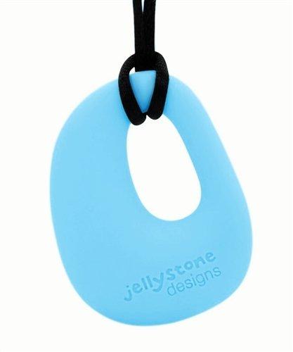 Organic Pendant - Silicone Necklace (Teething/Nursing) (Aqua Tiffany) - 1