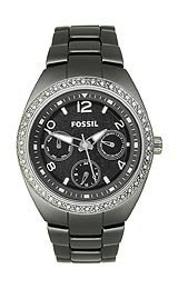 Fossil Berkley Ceramic Multifunction Black Dial Women's watch #CE1043