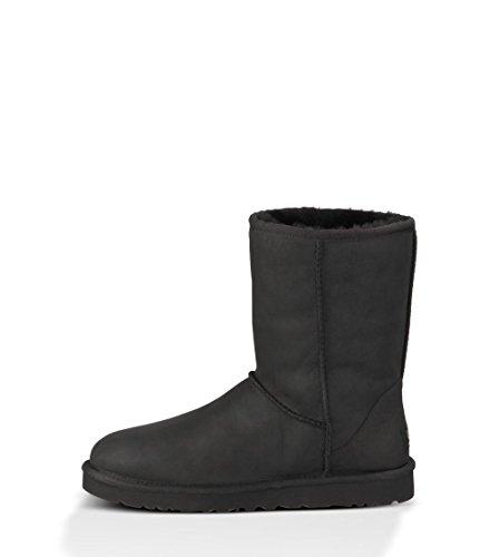 UGG Australia Women's Classic Short Black Sheepskin  Boot - 6 B(M) US
