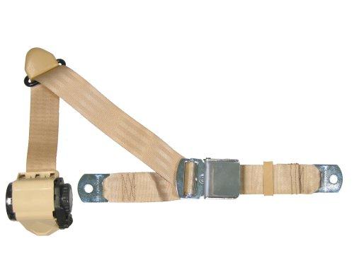 3 Point Retractable Lap Shoulder Seat Belt Tan With Chrome