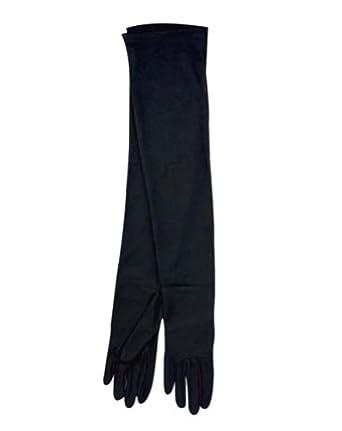 Long Black Gloves Adult