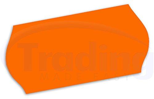 26 x 12mm CT4 etiquettes Orange pour etiqueteuse prix 10 rouleaux (10,000 etiquettes) (Price Gun Labels)