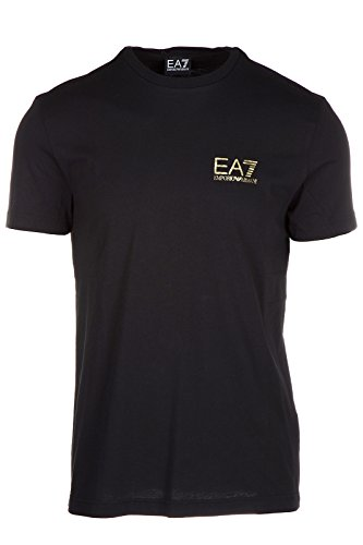 Emporio Armani EA7 t-shirt maglia maniche corte girocollo uomo nero EU M (UK 38) 6XPTC9 PJ30Z 1200