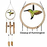 31q8YIvYnXL. SL160  Woodstock Hummingbird Wind Chime, Hand Tuned Bamboo Chimes, 35 Length