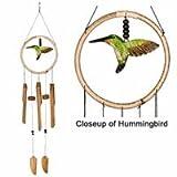 31q8YIvYnXL. SL160  Woodstock Hummingbird Wind Chime, Hand Tuned Bamboo Chimes, 35 Length