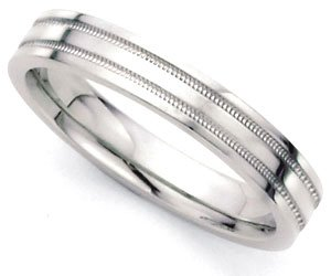 Comfort-Fit Flat Park Avenue Wedding Band in 14k White Gold (4mm)