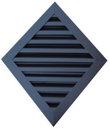 "20""w x 24""h Diamond Gable Vent, No Mounting Flange, James Hardie: Autumn Tan"