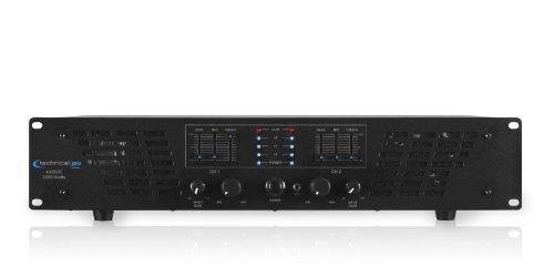 Technical Pro Professional 2-Channel 3000 Watt Power Amplifier w// LED Meters
