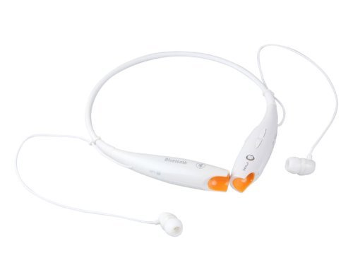 White Wireless Bluetooth Hv-800 Neckband Sport Stereo Universal Headset Headphone