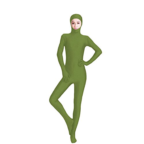 Muka Lycra Spandex Zentai Unitard with Face Open Second Skin Bodysuit Catsuit Dancewear (Abba Fancy Dress Outfits)