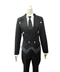 Leadcos Black Butler 2 Kuroshitsuji Sebastian Cosplay Costume S Size with wig