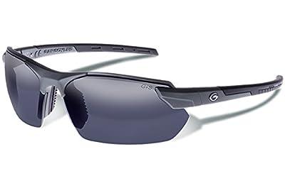 Gargoyles VORTEX Sunglasses Metallic Graphite Frames Smoke Polarized with Silver Mirror Lenses