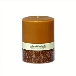 Northern Lights Candles - 3x4 Pillar-Warm Cinnamon Buns