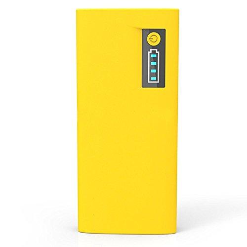 Di alimentazione AZTECH 13000 mAh 2,1 A/1 A doppia porta USB ad alta capacità batteria/Alimentatore elettrico con indicatore LED di potenza per Samsung M210S Wave2 Smartphone (giallo)