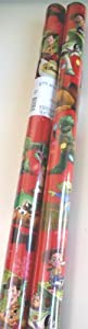 Disney Toy Story Christmas Holiday Gift Wrap/wrapping Paper Red