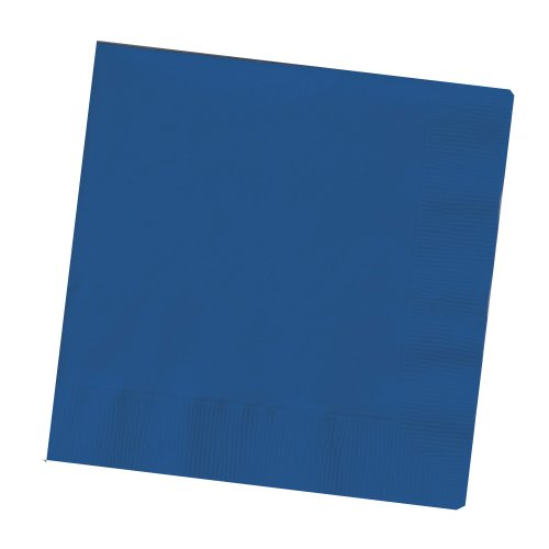 Creative Converting Touch of Color 200 Count 2-Ply Paper Beverage Napkins, Navy