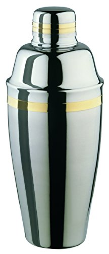 Elia Cocktail shaker  24ct gold trim 20fl oz