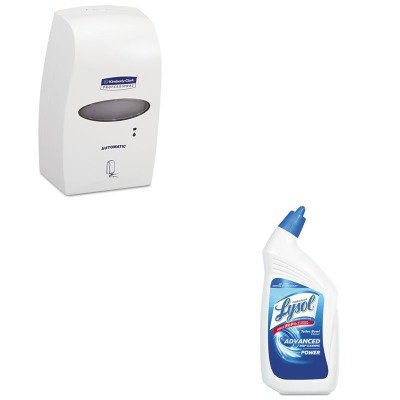 KITKIM92147RAC74278CT - Value Kit - Kimberly Clark 92147 Touchless Soap/Sanitizer 1200mL Dispenser (KIM92147) and Professional LYSOL Brand Disinfectant Toilet Bowl Cleaner (RAC74278CT)