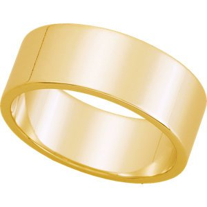 Genuine IceCarats Designer Jewelry Gift 10K Yellow Gold Wedding Band Ring Ring. 07.00 Mm Flat Band In 10K Yellowgold Size 5