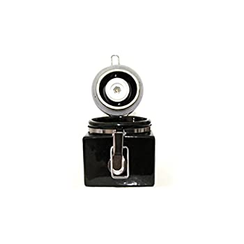 "CoffeeWerks ""Vintage Cafe"" Manual Ceramic Burr Coffee Grinder (Black)"