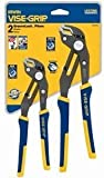 IRWIN VISE-GRIP GrooveLock Pliers Set, V-Jaw, 2 Piece, 2078709
