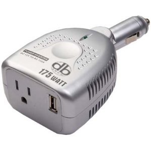 DBTech 175 Watt Little Micro Power Inverter With USB Port - 12v AC to 110v DC Car PR Converter For Your Ipod, iPad, iPhone, Tombstone, PSP, DVD Players Laptops Netbooks And cellphones
