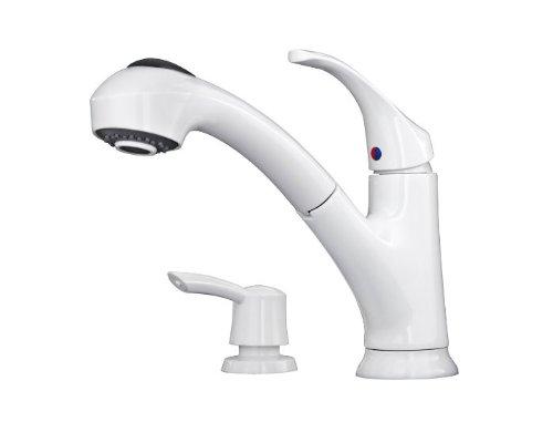 Pfister F Wkp 701w White Shelton Pullout Spray Kitchen Faucet